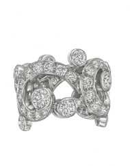 Cartier Boudoir Platinum and Diamond Ring