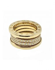 Bvlgari B Zero1 Yellow Gold Ring with Diamonds (5)